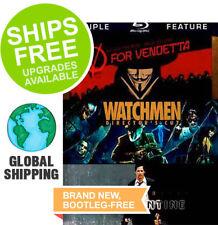 V for Vendetta, Watchmen, Constantine (Blu-ray, 2012, 3-Disc Set) NEW