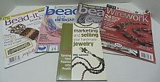 Beading Bead Jewelry Magazines Lot of 5 And Marketing/Selling Jewelry Crafts