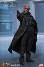 SIDESHOW HOT TOYS CAPTAIN AMERICA MOVIE MASTERPICE 1:6 FIGUR NICK FURY MMS315
