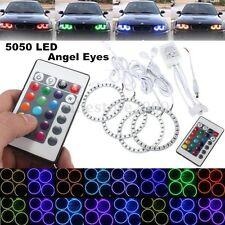 4x Multicolor RGB 90MM 5050 SMD LED Flash Angel Eye Halo Ring IR Remote Control
