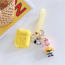 3D Cute Dog Boys Pendant Strap Soft Earphone Cover for Airpods Charging Case