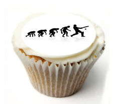 Cupcake Topper Cricket personalised Rice, Icing sheet 972