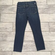 MOTHER Denim Looker Crop Ankle Fray Super Skinny Jeans in Girl Crush 27 X 23.5