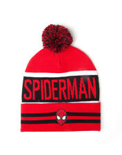 OFFICIAL MARVEL COMICS: THE AMAZING SPIDER-MAN MASK POM BEANIE HAT (NEW)