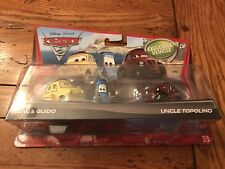 Disney Pixar Cars 2 LUIGI & GUIDO UNCLE TOPOLINO Exclusive Vehicle 2-pk