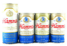 Qty. 4 - Hamm's Beer Can Steel Top/Bottom Opened 12 fl oz Pint Free Shipping
