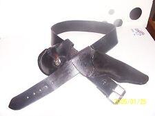 Black Powder revolver holster and gun belt right hand cross draw 6 inch barrel