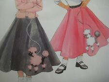 New Look 0604 POODLE SKIRT COSTUME Sewing Pattern Girl Sz 7-14 for GREASE PLAY