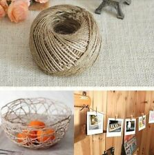 10M 10M 3-Ply Twisted Burlap String Natural Ribbon Fiber Jute Twine Rope Toy L