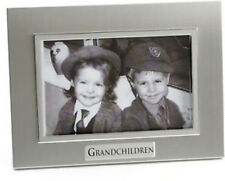 "Juliana Two Tone Aluminium Grandchildren 6"" X 4"" Frame 8578"