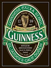 Guinness, Retro metal Aluminium Sign vintage / man cave / Bar Pub