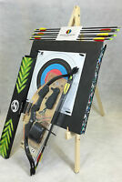 ASD 20Lbs Youth Black Compound Archery Bow Set W/ 8 Arrows, Target Boss & Stand