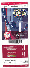 2009 NY YANKEES VS PHILLIES WORLD SERIES GAME #1 TICKET STUB CLIFF LEE WIN