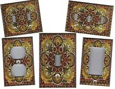 ITALIAN TILE PRINT - TUSCAN HOME DECOR LIGHT SWITCH PLATE
