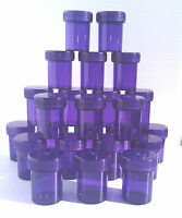 "20 Tiny PURPLE 1.67""  small Jars Container Holds 1 tablspn Bottle DecoJars #3306"