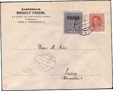AUSTRIA POSTA AEREA 1918 - OSTERREICH n. 3 + n. 162 SU BUSTA
