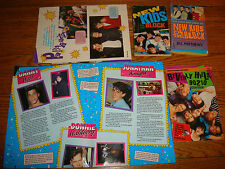 x5 NEW KIDS ON THE BLOCK Book LOT Poster Pictures Danny Donnie Jonathan 90210