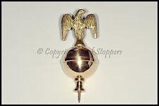 Calidad Brass Eagle Remate Reloj Abuelo longcase Adorno Decoración Ball