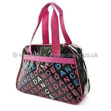 Capezio Bowling sac PVC pour Ballet chaussures filles - noir rose - B80