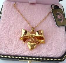 Auth Juicy Couture Heart Bow Long Necklace $48