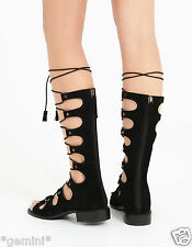 STRADIVARIUS ZARA group 38 5 Leather Gladiator Sandals echt Leder Romani Sandali