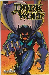 Dark Wolf #1  Malibu Comics 1987 F/VF white pages
