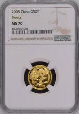 NGC MS70 2005 China Panda 1/10oz Gold Coin