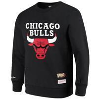 Chicago Bulls Mitchell & Ness NBA HWC Throwback Logo Crew Jumper - Black