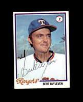 Bert Blyleven Hand Signed 1978 Topps Texas Rangers Autograph