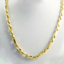 """65.50 gm 14k Yellow Solid Gold Men's Figarope Milano Chain Necklace 24"""" 5.50 mm"""