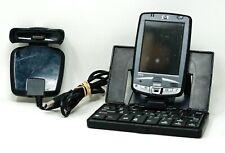 HP iPAQ PDA Hx2495b W/ Charger Dock & Keyboard PARTS NOT WORKING