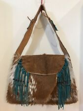 Western Fringe Leather and Cowhide Purse OOAK!