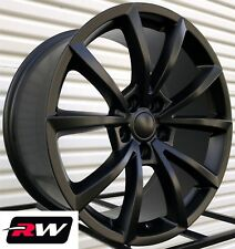 "20"" Dodge Durango Wheels 20x9"" Jeep Grand Cherokee Trackhawk Satin Black Rims"