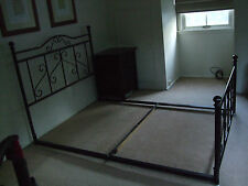 Queen Size Cast  / Wrought Iron Bed - as new condition in  BLACK
