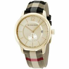 BURBERRY BU10001 Check Fabric-Coated Leather Unisex Watch