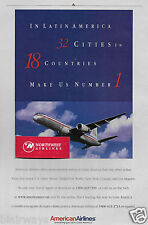 AMERICAN AIRLINES LATIN AMERICAN 757 TO 32 CITIES 18 COUNTRIES MAKES US NO #1 AD