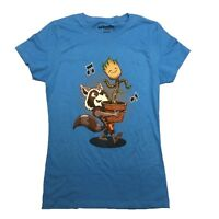 Guardians Of The Galaxy Rocket And Baby Groot Friends Junior T Shirt