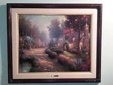 Thomas Kinkade Cobblestone Lane 1, S/P on canvas; Number 52 of 95