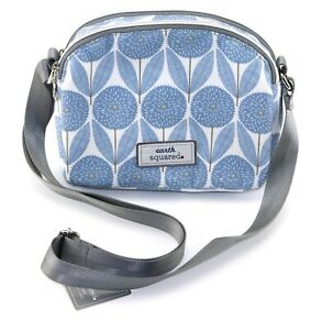 BLUE crossbody FLORAL crossbody FLOWER pretty design Earth Squared shoulder bag