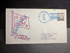Uss Brant Am-24 Naval Cover 1931 Navy Day Cachet to Wg Crosby #702