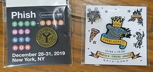 Limited Edition Phish Subway Token + Furblanket Pin Set MSG New Years Run 2020