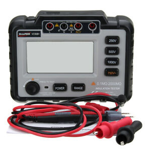 Mini VC60B+ Insulation Resistance Tester 250/500/1000V DC Megger Backlight LCD*
