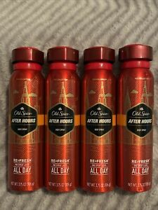 OLD SPICE Red Collection Body Spray After Hours - 3.75 oz, Pack of 4