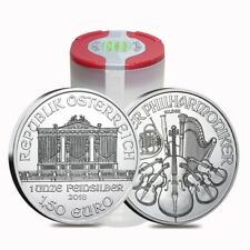 Roll of 20 - 2018 1 oz Austrian Silver Philharmonic Coin BU (Lot, Tube of 20)