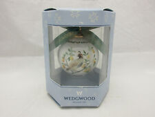 Wedgwood Twelve Days of Christmas Partridge In A Pear Tree Ball Ornament