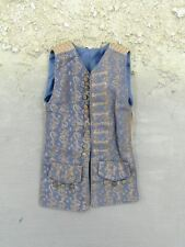 1/6 Scale Pirates of The Caribbean Jack Sparrow Blue Patterned Vest