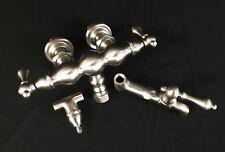 NEW Elizabethan Classics Claw Foot Tub Faucet, Satin Nickel w/Handles 2V4XSN