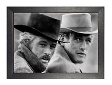 Butch Cassidy Sundance Kid Poster Western Movie Star Black and White Picture