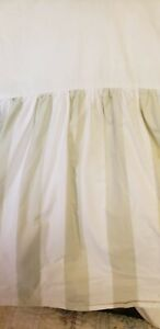 "Simply Shabby Chic~FULL  SIZE ~BED SKIRT~Sage Green & White Stripe~15"" Drop"