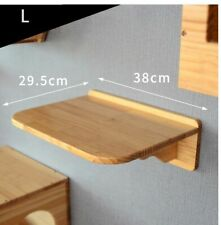 Wall Mounted Cat Tree Wood Platform Kitten Jumping Climbing Scratching Frame New
